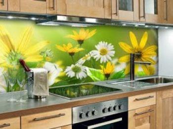 Kính in tranh 3D ốp bếp