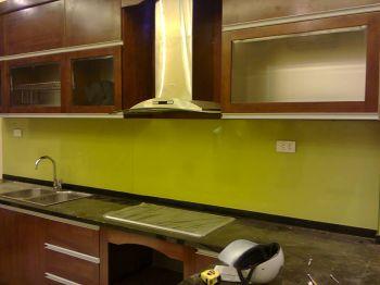 Kính Mầu ốp Bếp Mầu Vàng Chanh