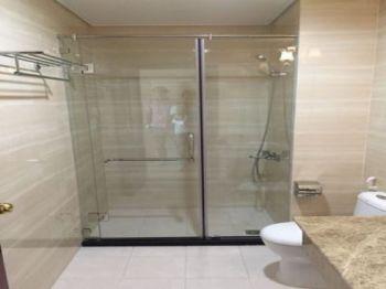 Vách tắm kính 180 độ bộ 2 tấm