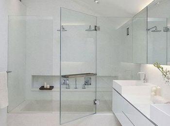 Vách tắm kính 180 độ bộ 3 tấm